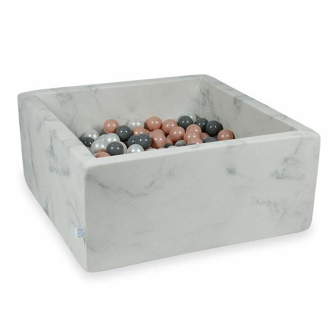 Moje Ballenbad Marble 90x90x40 cm incl. ballen