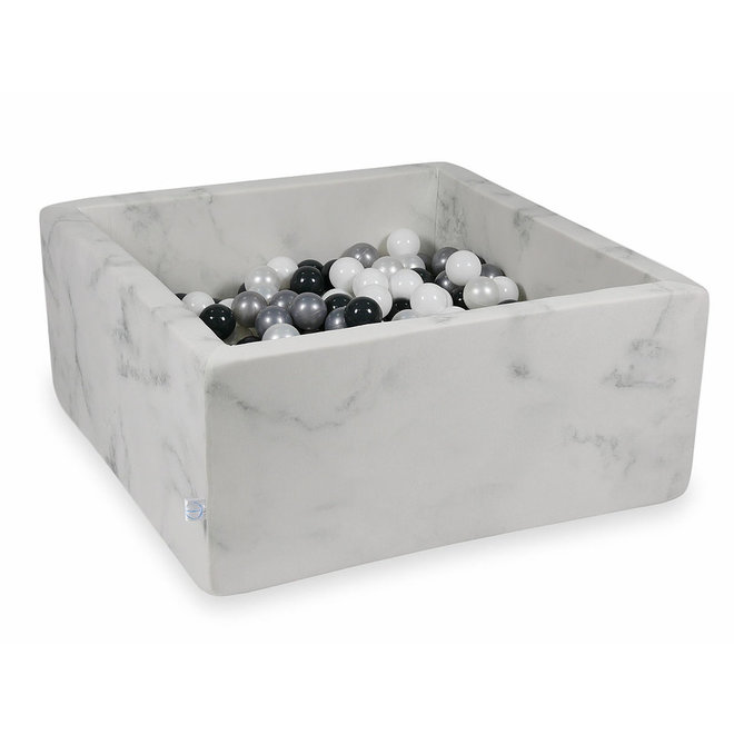 Ballenbad Marble 90x90x40 cm incl. ballen