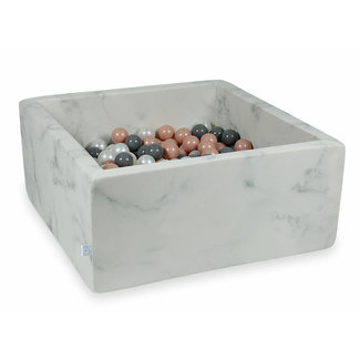Moje Ballenbad Marble 110x110x40 cm incl. ballen