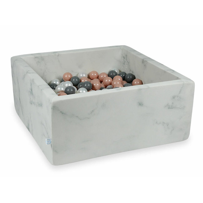 Ballenbad Marble 110x110x40 cm incl. ballen