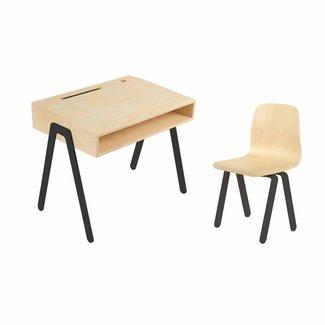 In2Wood Kinderbureau met stoel - Small (2-6 jaar)