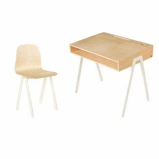 In2Wood Kinderbureau met stoel - Large (6-10 jaar)