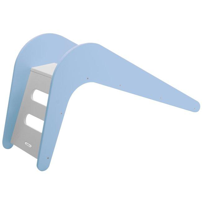Glijbaan blauw hout 145x43x68cm - Blue Whale