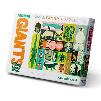 Crocodile Creek Familie puzzel 2-in-1 Animal Giants - 500st