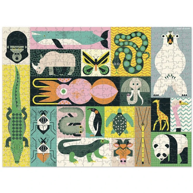 Familie puzzel 2-in-1 Animal Giants - 500st