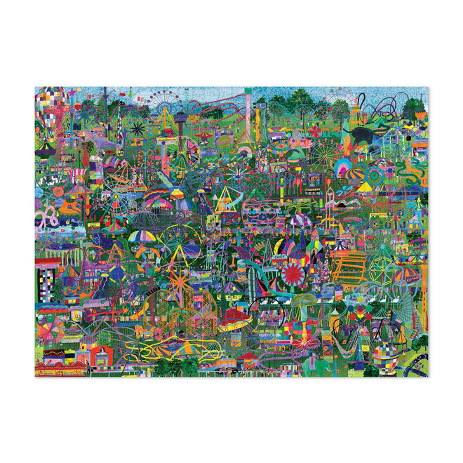 Familie puzzel Amusements of the world - 1000st