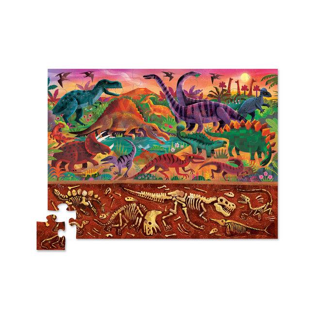 Boven + Beneden Dino Puzzel – 48 stukken  | Crocodile Creek