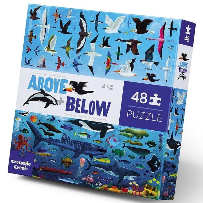Boven + Beneden Sea & Sky puzzel – 48 stukken