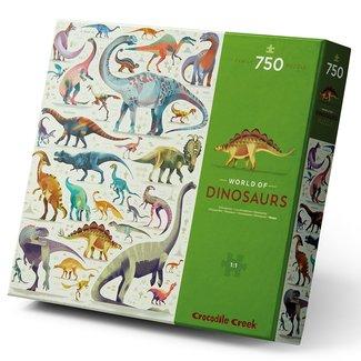 Crocodile Creek Puzzel World of Dinosaurs - 750 stukken