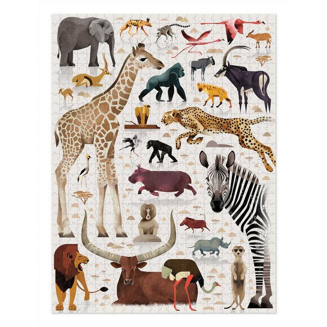 Puzzel World of African Animals - 750 stukken