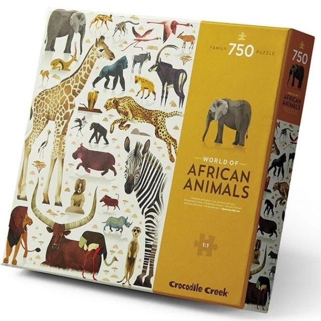 Crocodile Creek Puzzel World of African Animals - 750 stukken