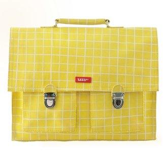 Bakker made with Love Boekentas Retro Kotak Yellow – Medium