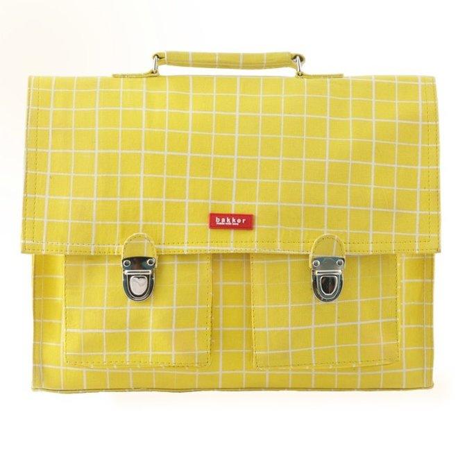 Boekentas Retro Kotak Yellow – Medium