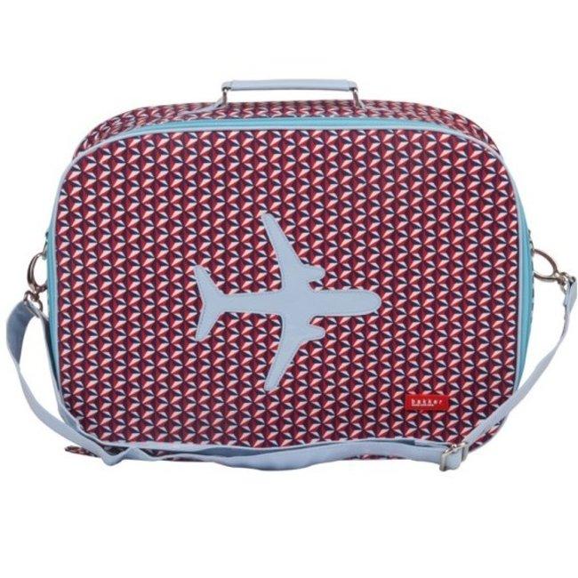 Koffer in canvas met vliegtuig Bintang | Bakker made with love