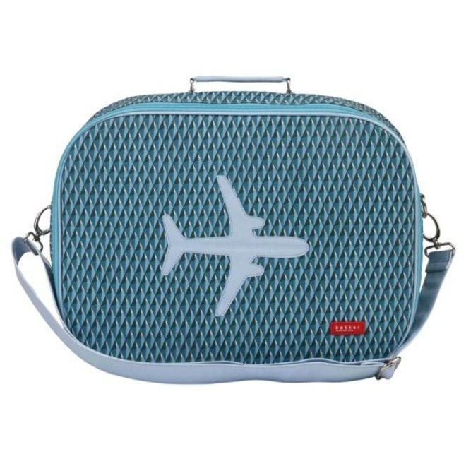 Koffer in canvas met vliegtuig Diamond | Bakker made with love