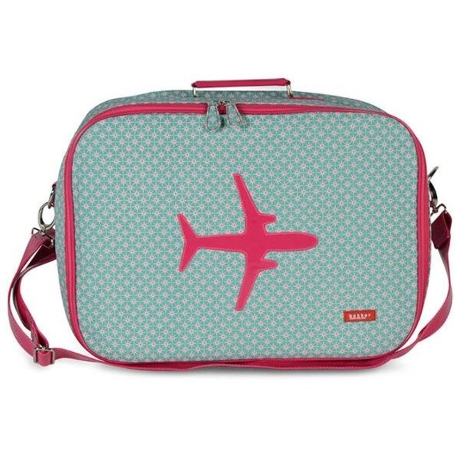 Koffer in canvas met vliegtuig Stars   Bakker made with love