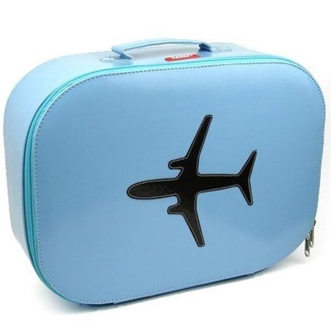 Koffer vliegtuig 'sky blue' - Bakker made with love