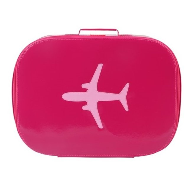 Koffer vliegtuig fuchsia | Bakker made with love