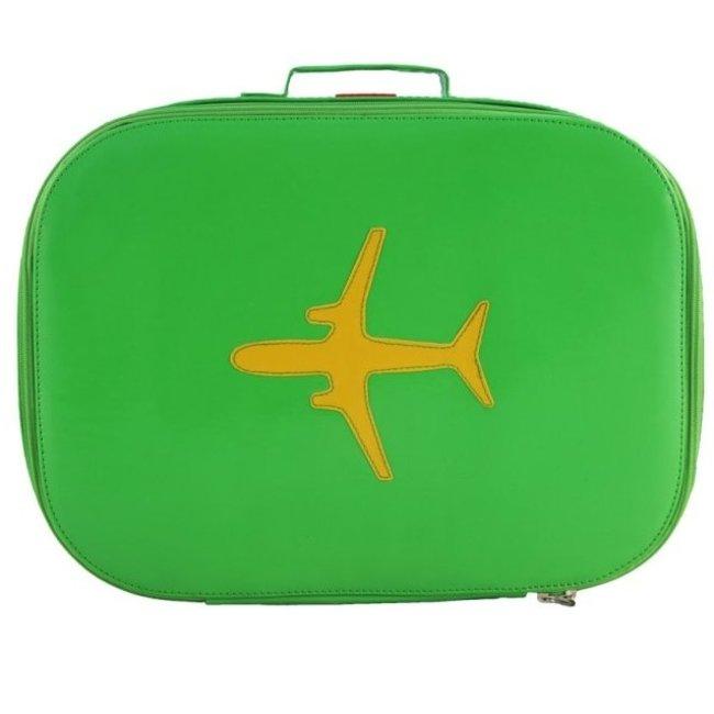Koffer vliegtuig groen Bakker made with love