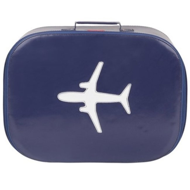 Koffer vliegtuig Navy | Bakker made with love