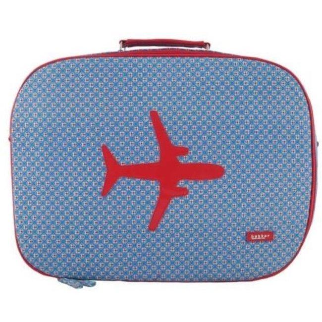Koffer in canvas met vliegtuig Kaleidoscope