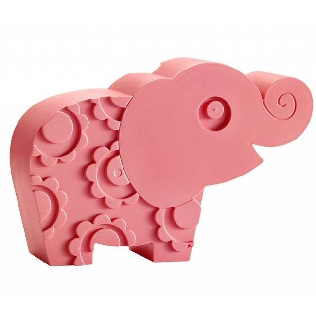 Brooddoos olifant roze   Blafre