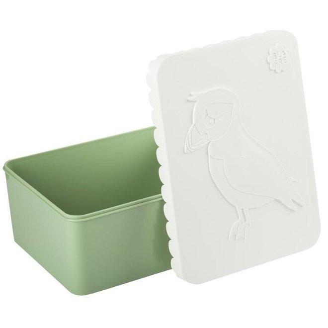 Brooddoos/lunchbox  Vogel wit-groen | Blafre