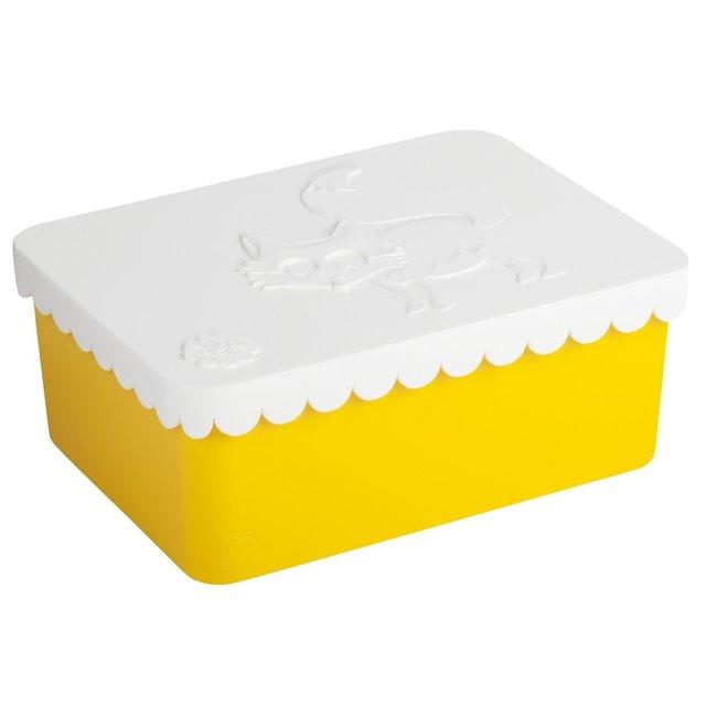 Brooddoosje Vos wit/geel | Blafre