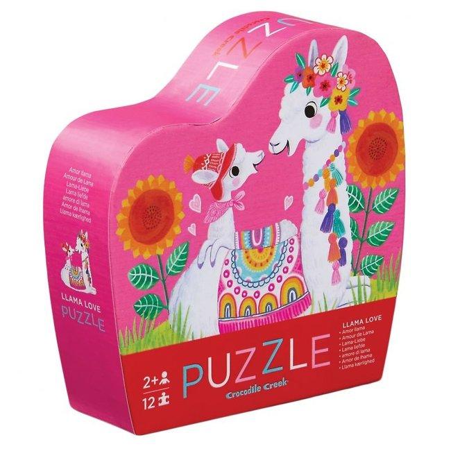 Mini Puzzel Lama liefde 12st | Crocodile Creek