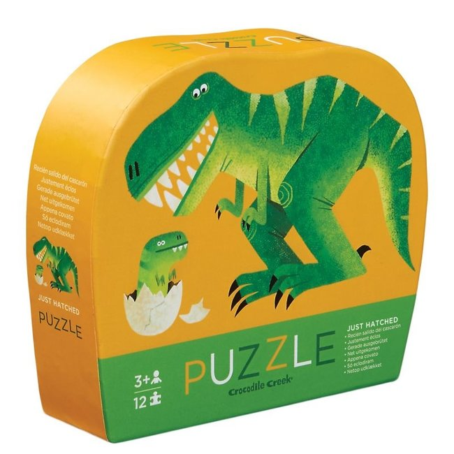 Crocodile Creek Mini Puzzel Dinosaurus 12st | Crocodile Creek