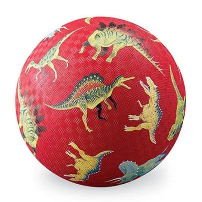 Crocodile Creek Voetbal (13cm) Dino's Rood | Crocodile Creek