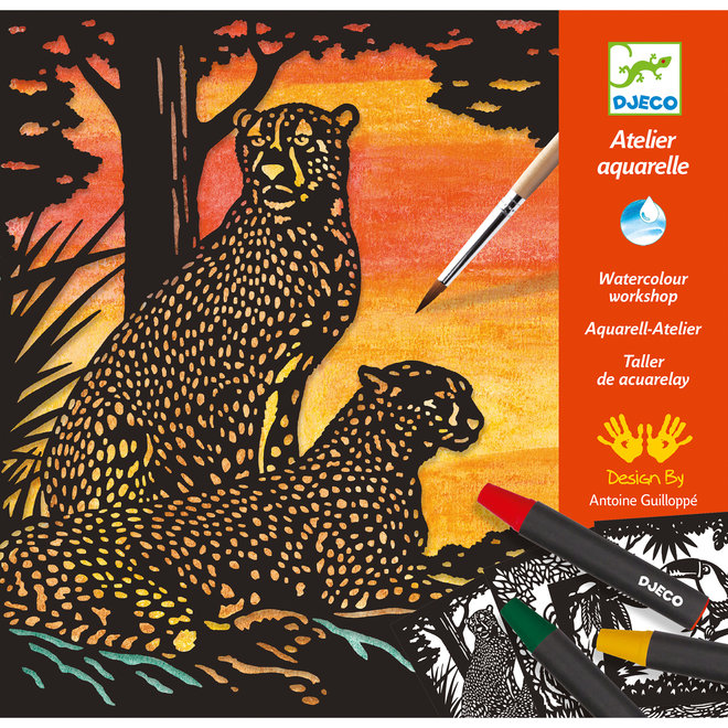 Atelier Aquarel Jungledieren   Djeco