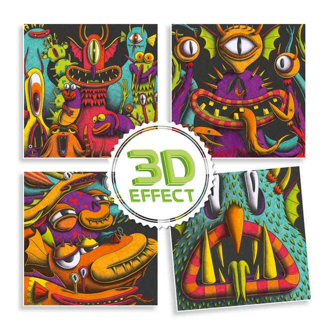 3D Kleurset - Funny Freaks