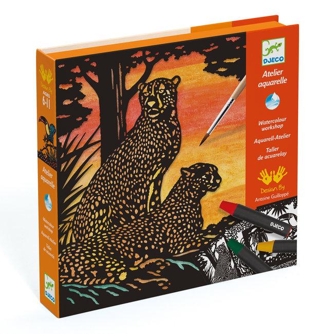 Atelier Aquarel Jungledieren | Djeco