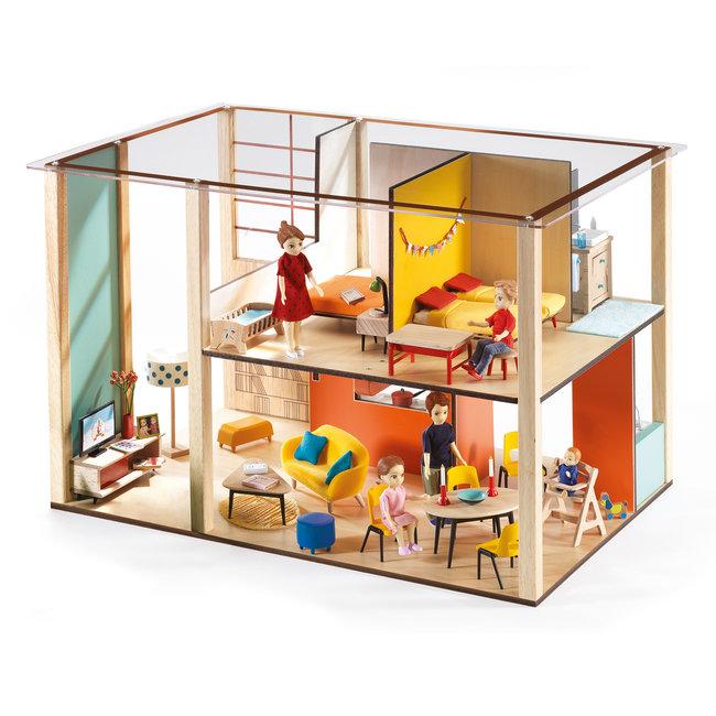 Djeco Houten Poppenhuis Cubic House  | Djeco