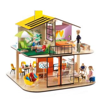 Djeco Poppenhuis Color House    Djeco
