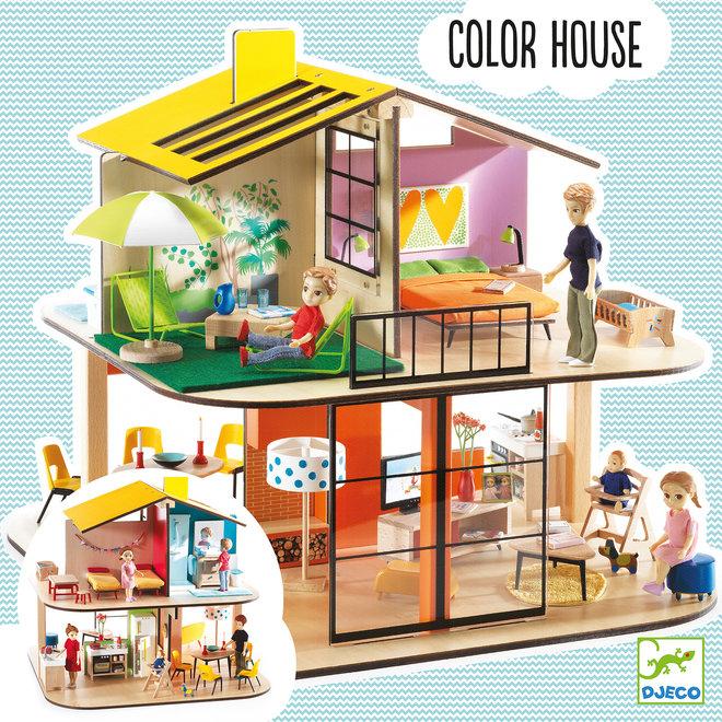 Poppenhuis Color House  | Djeco