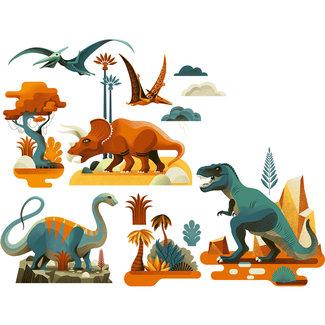 Djeco Raamsticker Dino's