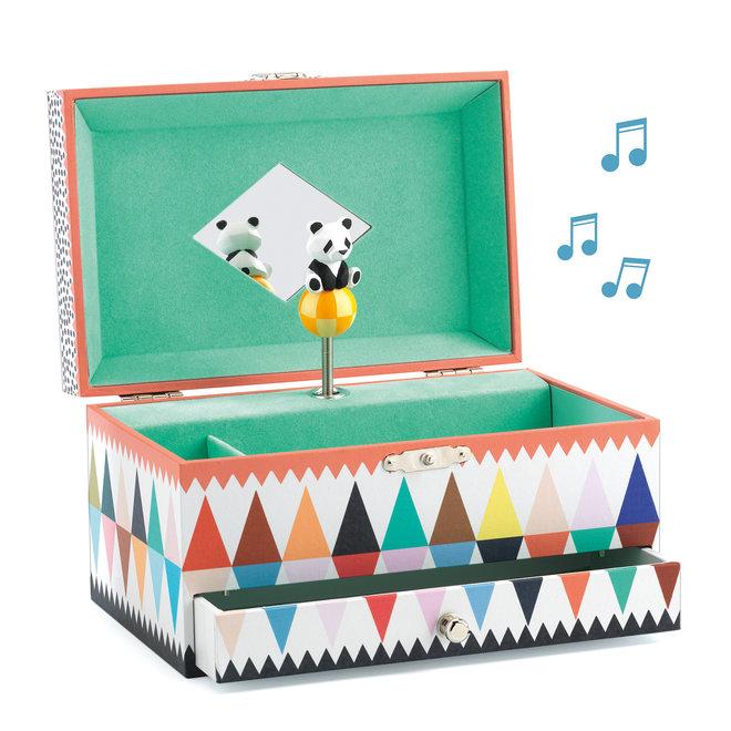 Muziek- en juwelendoos Panda
