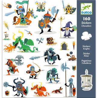 Djeco Stickerset Ridders (160st) | Djeco