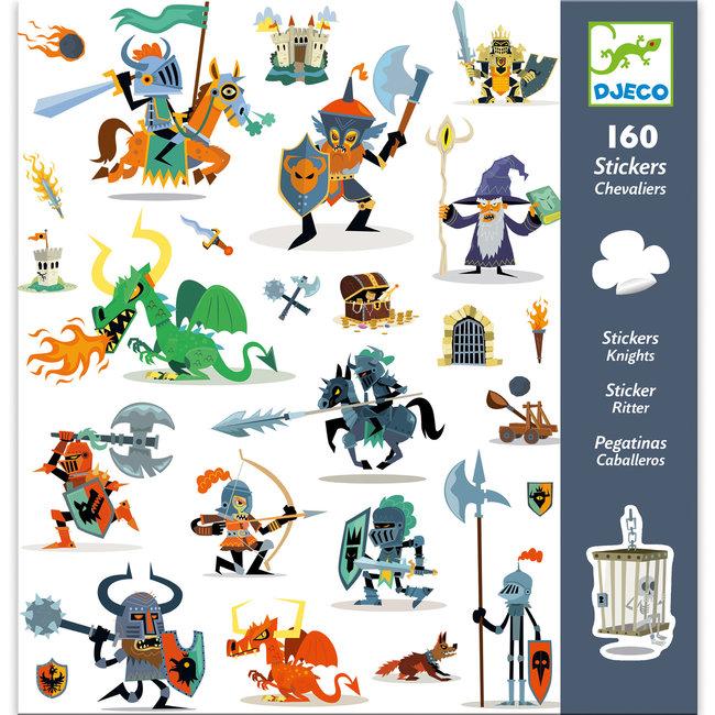 Stickerset Ridders (160st) | Djeco