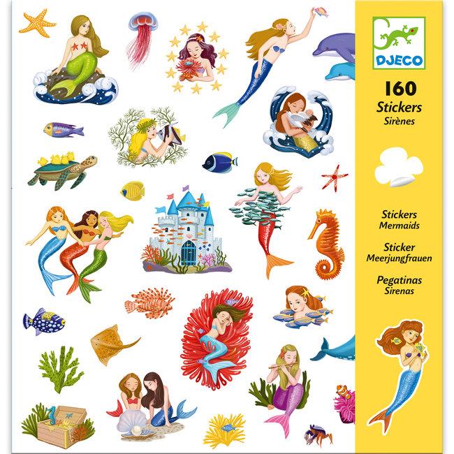 Stickerset Zeemeerminnen (160st)   Djeco