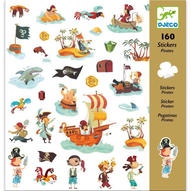 Stickerset Piraten (160st) | Djeco