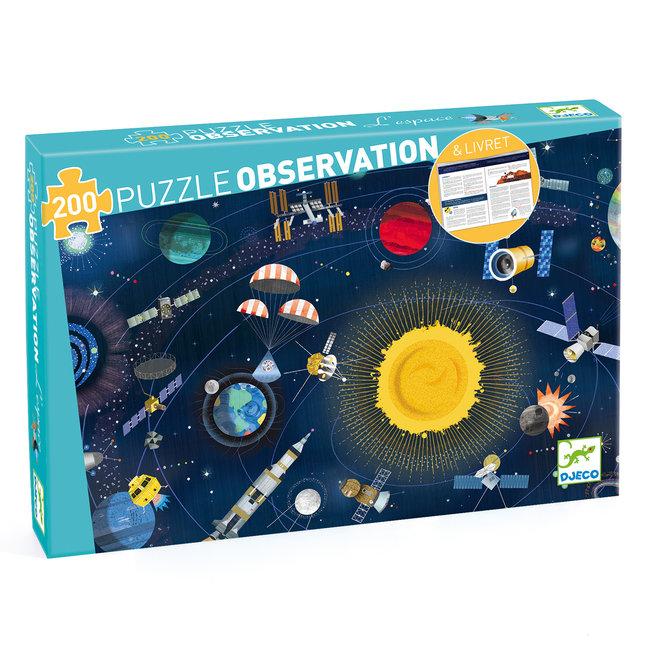 Djeco Obeservatie puzzel Ruimte - 200 stukken