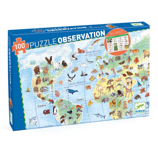 Djeco Observatie puzzel Dieren - 100 stukken