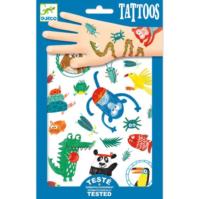 Tattoos - Grappige Dieren   Djeco