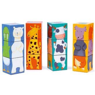 Djeco Stapelblokken Puzzel - Dieren