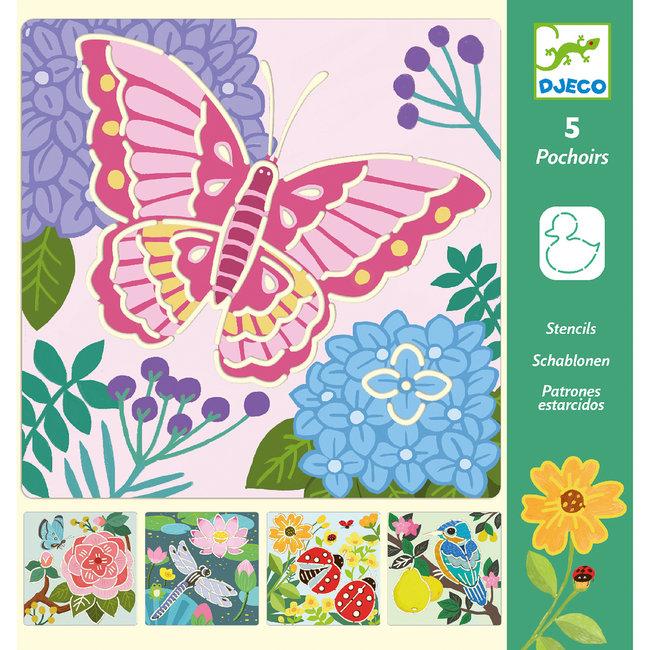 Djeco Tekensjablonen Vlinders