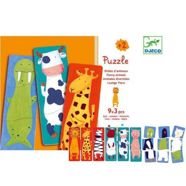 Djeco Puzzel 1.2.3 Animo - 3 puzzels