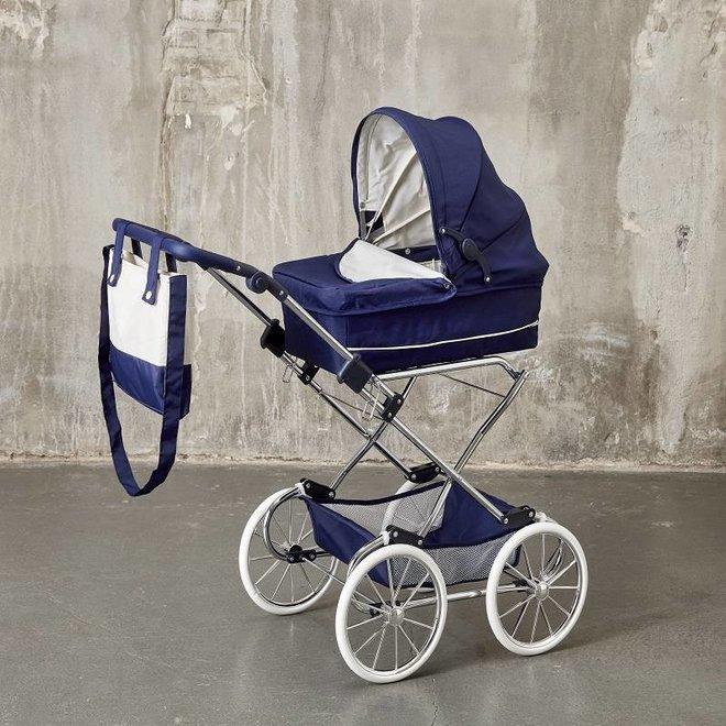 Poppenwagen Deluxe blauw